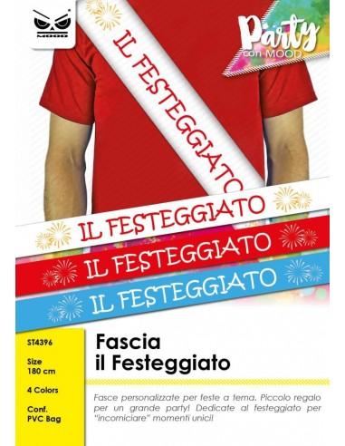 FASCIA IL FESTEGGIATO 180 CM 4 ASS.
